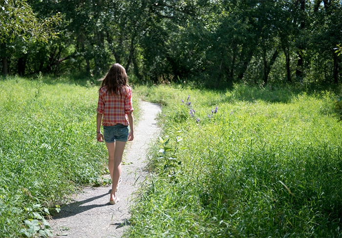 mindful walking in der natur
