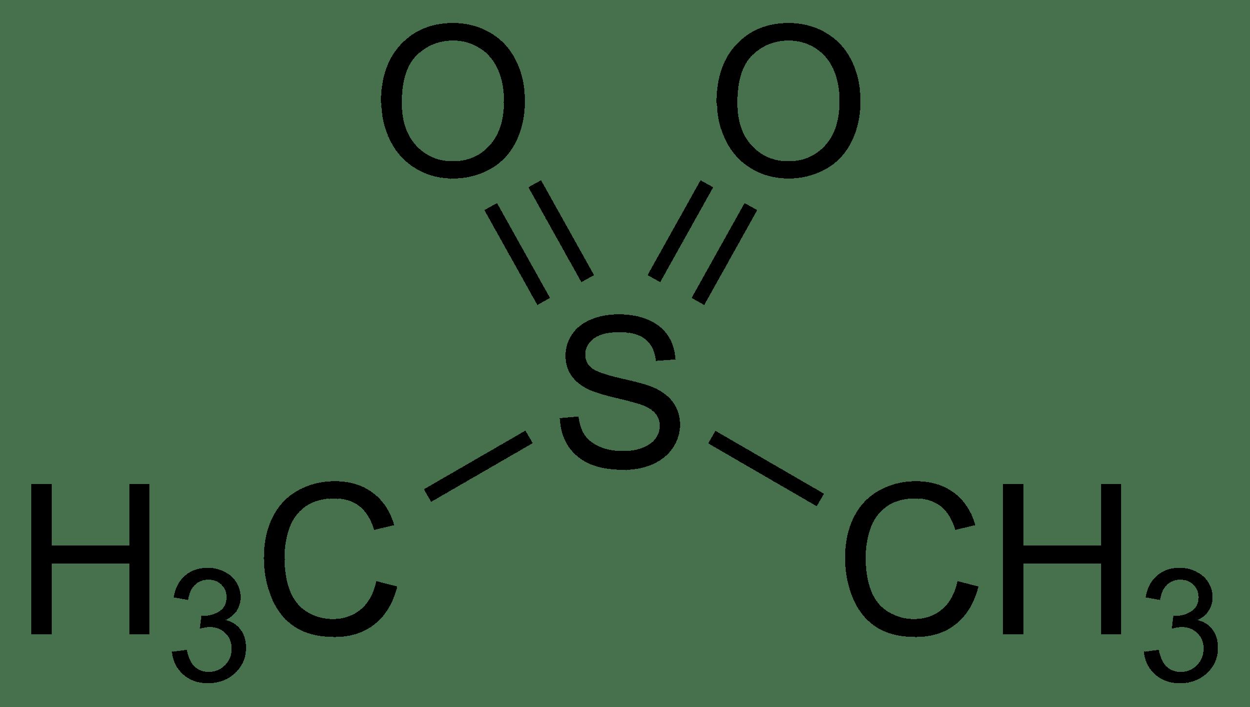 Methylsulfonylmethan MSM Strukturformel